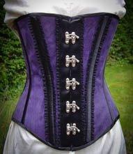 Purple Leather Corset
