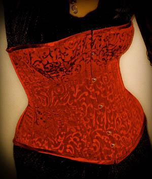 burgundy-corset