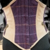 Tweed and suede corset